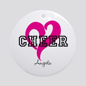 Love Cheer Heart Round Ornament