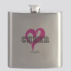 Love Cheer Heart Flask