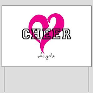 Love Cheer Heart Yard Sign