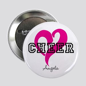 "Love Cheer Heart 2.25"" Button"