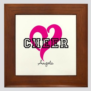 Love Cheer Heart Framed Tile