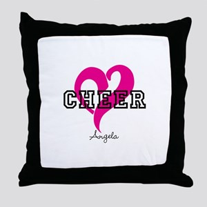 Love Cheer Heart Throw Pillow