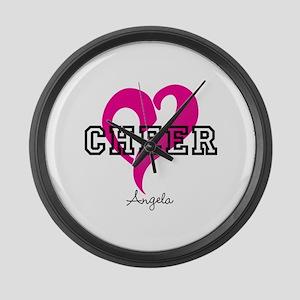 Love Cheer Heart Large Wall Clock