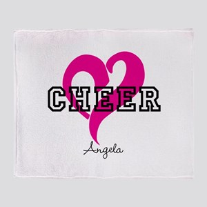 Love Cheer Heart Throw Blanket