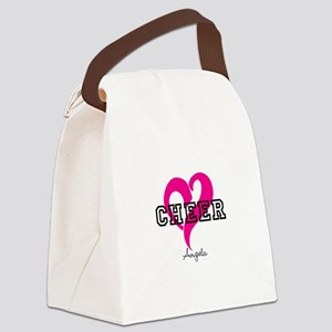 Love Cheer Heart Canvas Lunch Bag