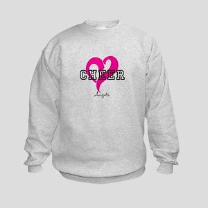 Love Cheer Heart Sweatshirt