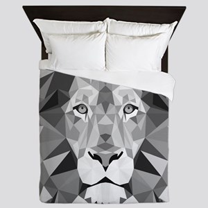 Gray Lion  Queen Duvet