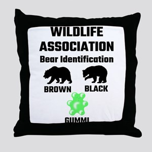 Wildlife Association Bear Identificat Throw Pillow