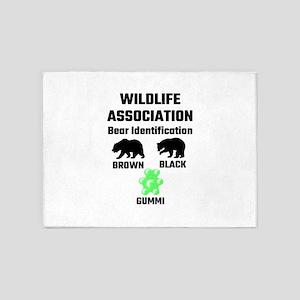 Wildlife Association Bear Identific 5'x7'Area Rug