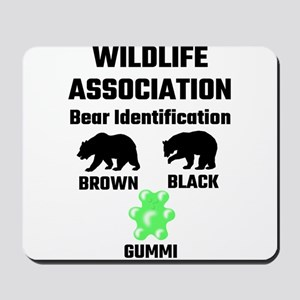 Wildlife Association Bear Identification Mousepad