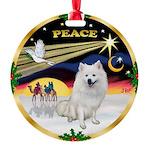 XmasDove/Am Eskimo Round Ornament