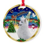 XmasMusic 3/Am Eskimo #3 Round Ornament