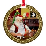 Santa's Am Eskimo #5 Round Ornament