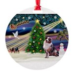 XmasMagic/ Aussie Round Ornament