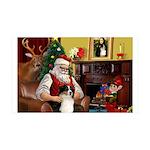 Santa's Ausie 35x21 Wall Decal