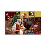 Santa's Basenji 35x21 Wall Decal