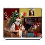 Santa's Basenji Mousepad