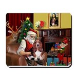 Santa's Basset Hound Mousepad