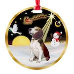 Night Flight/Beagle #2 Round Ornament