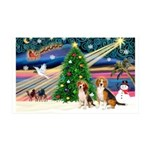 XmasMagic/2 Beagle 35x21 Wall Decal