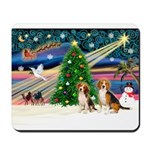XmasMagic/2 Beagle Mousepad