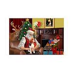 Santa's Beagle 35x21 Wall Decal