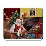 Santa's Beagle Mousepad