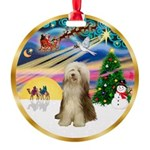 XmasMagic/Beardie #16 Round Ornament
