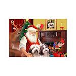 Santa's Beardie 35x21 Wall Decal