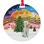 XMusic2 - Bedlington Terrier Round Ornament