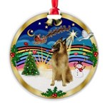 XmasMusic 3/Tervuren Round Ornament