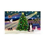 XmasMagic/ Border Collie 35x21 Wall Decal