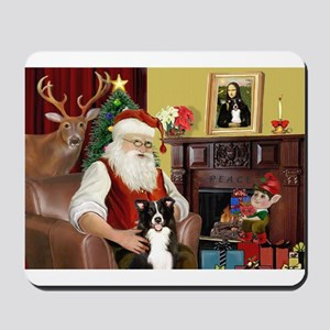 Santa's Border Collie Mousepad
