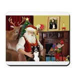 Santa's Border Collie Mousepad
