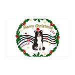 XmasMusic1MC/Border Collie 35x21 Wall Decal
