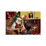 Santa's Border T 35x21 Wall Decal