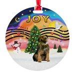 XMusic2-Border Terrier Round Ornament