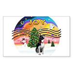 XMusic2-Boston Terrier Sticker (Rectangle 10 pk)