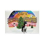 XMusic2-Boston Terrier Rectangle Magnet (10 pack)