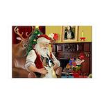 Santa's Boxer 35x21 Wall Decal