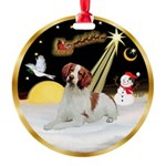Night Flight/Brittany Span Round Ornament