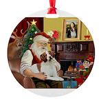 Santa's Brittnany Round Ornament