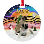 XMusic2-Two Bull Mastiffs Round Ornament