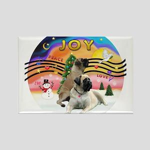 XMusic2-Two Bull Mastiffs Rectangle Magnet