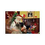 Santa's Bull Mastiff 35x21 Wall Decal