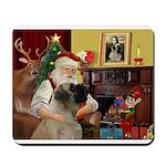 Santa's Bull Mastiff Mousepad