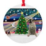 XmasMagic/Bull Mastiff Round Ornament
