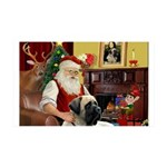 Santa's Bull Mastiff 35x21 Wall Decal