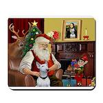 Santa's Bull Terrier Mousepad