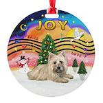 XMusic2-Cairn Terrier (#4) Round Ornament
